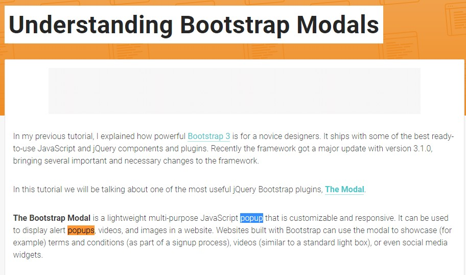 One more  beneficial  information about Bootstrap Modal Popup