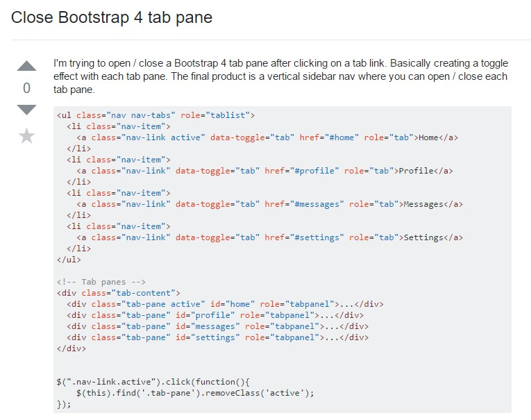 Tips on how to  turn off Bootstrap 4 tab pane