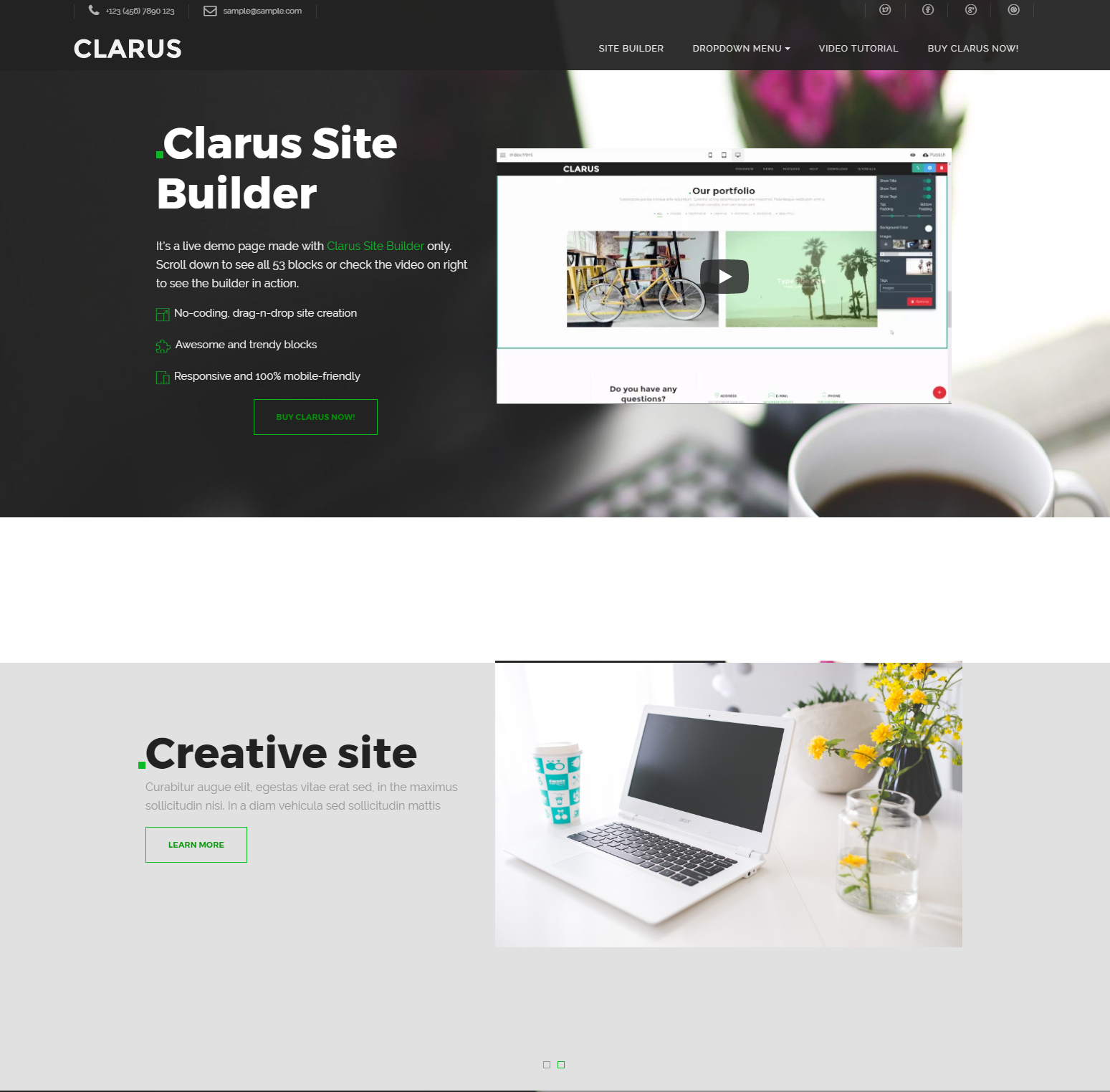Free Download Bootstrap Clarus Templates