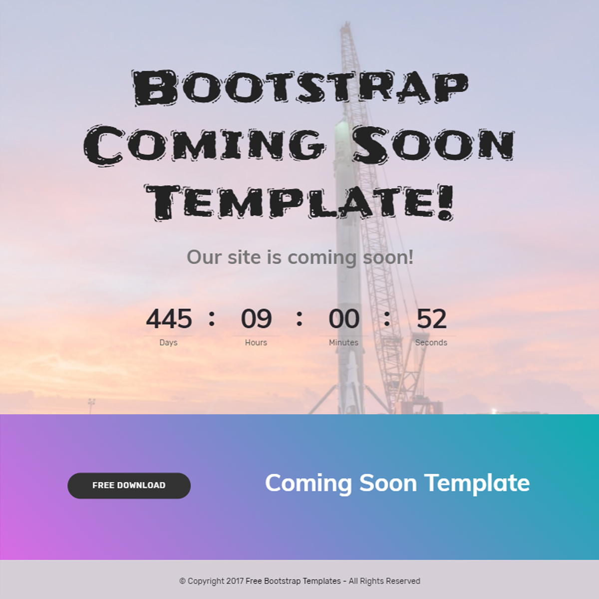 Responsive Bootstrap Coming Soon Templates