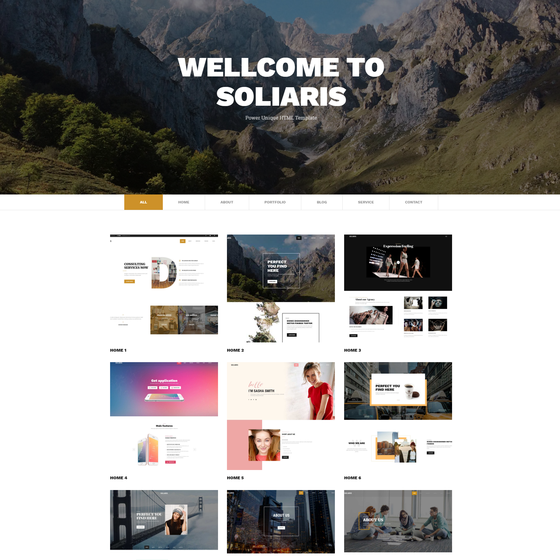 HTML5 Bootstrap Soliaris Themes