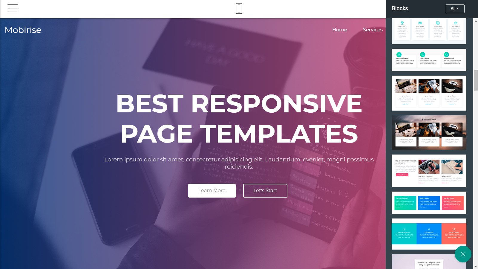 responsive webpage templates