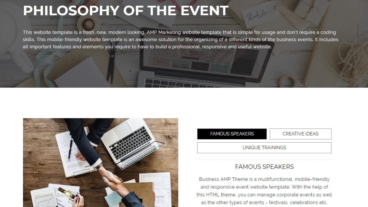 AMP Marketing Website Template