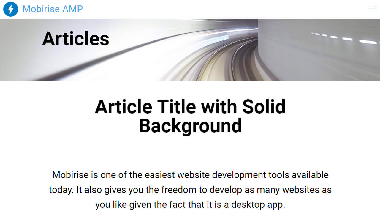 Free AMP Article Template