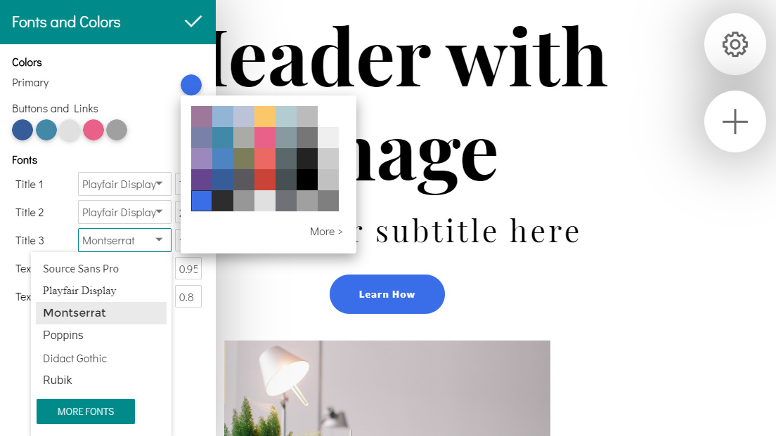 Mobile Web Page Builder