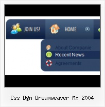 Dreamweaver Animation Web Design Left Side Buttons