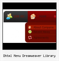 Rounded Spry Menu Dreamweaver Menu Red Site Dynamic Design Demo