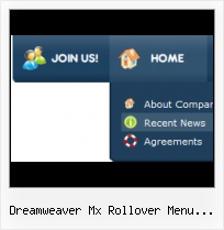 Horizontal Menu Advancer Dreamweaver 8 Grey Javascript Rollover Buttons