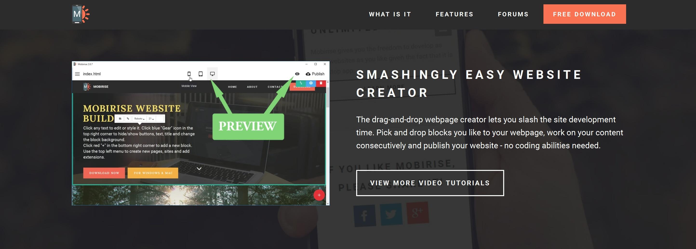 Simple WYSIWYG Web Page  Creator Software