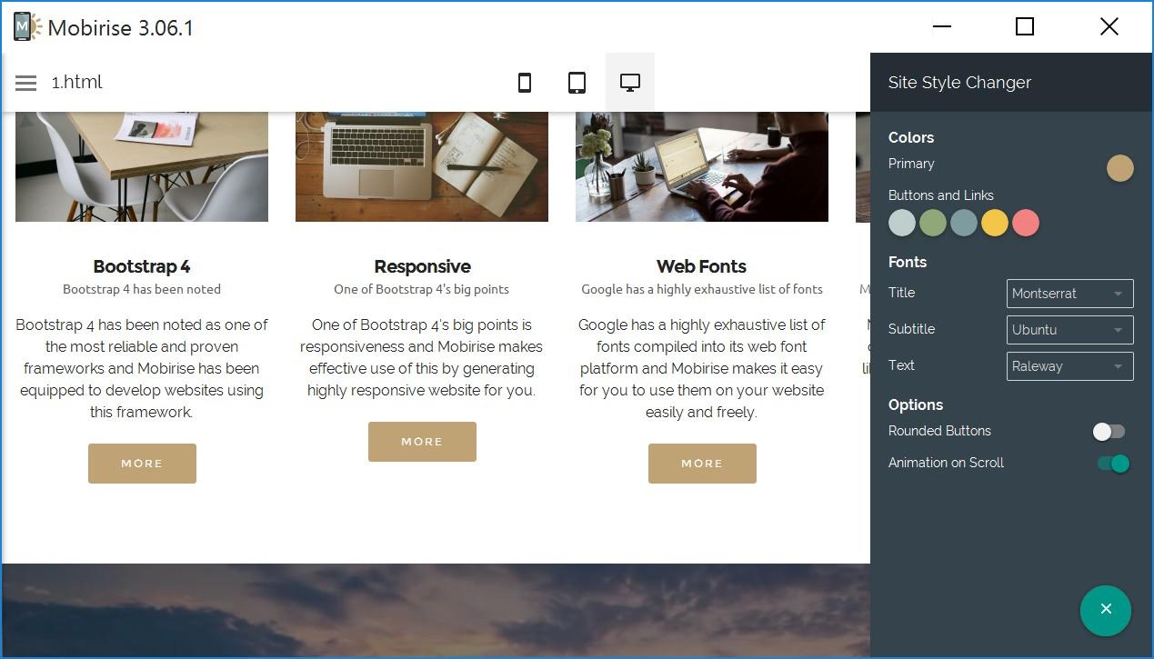 Drag and Drop Responsive Website Builder