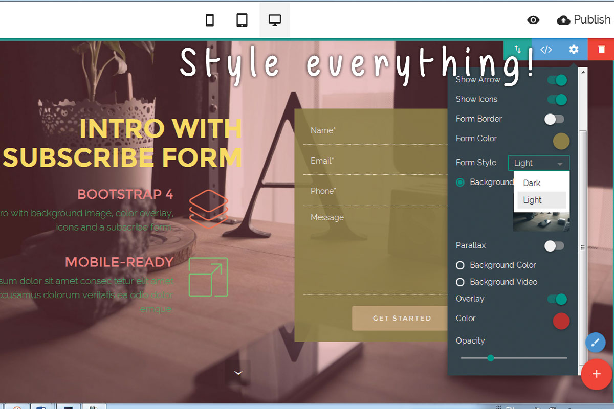 HTML Responsive Web Page Creator Software