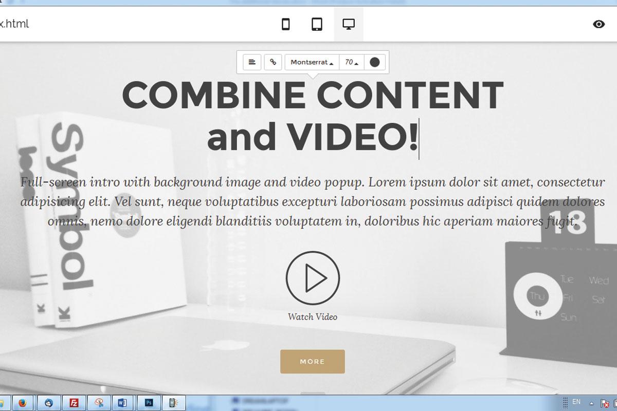 HTML Responsive Site Creator