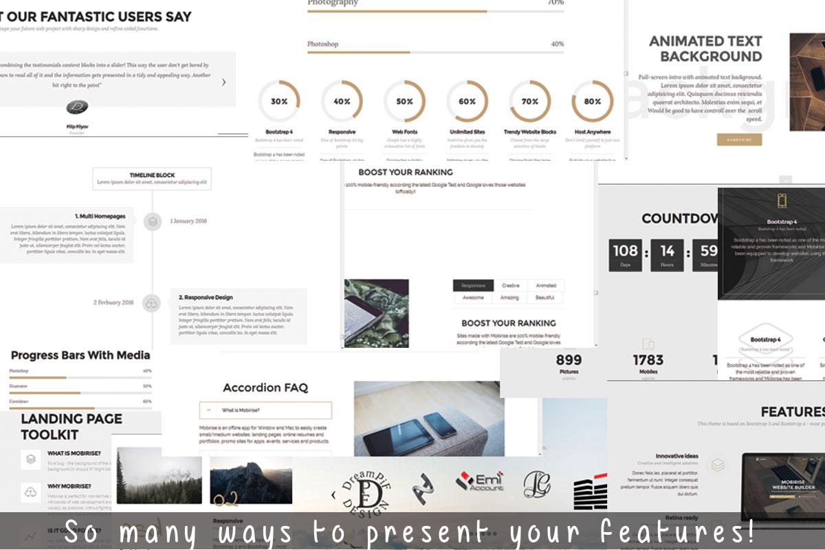 Drag and Drop Responsive Site Creator