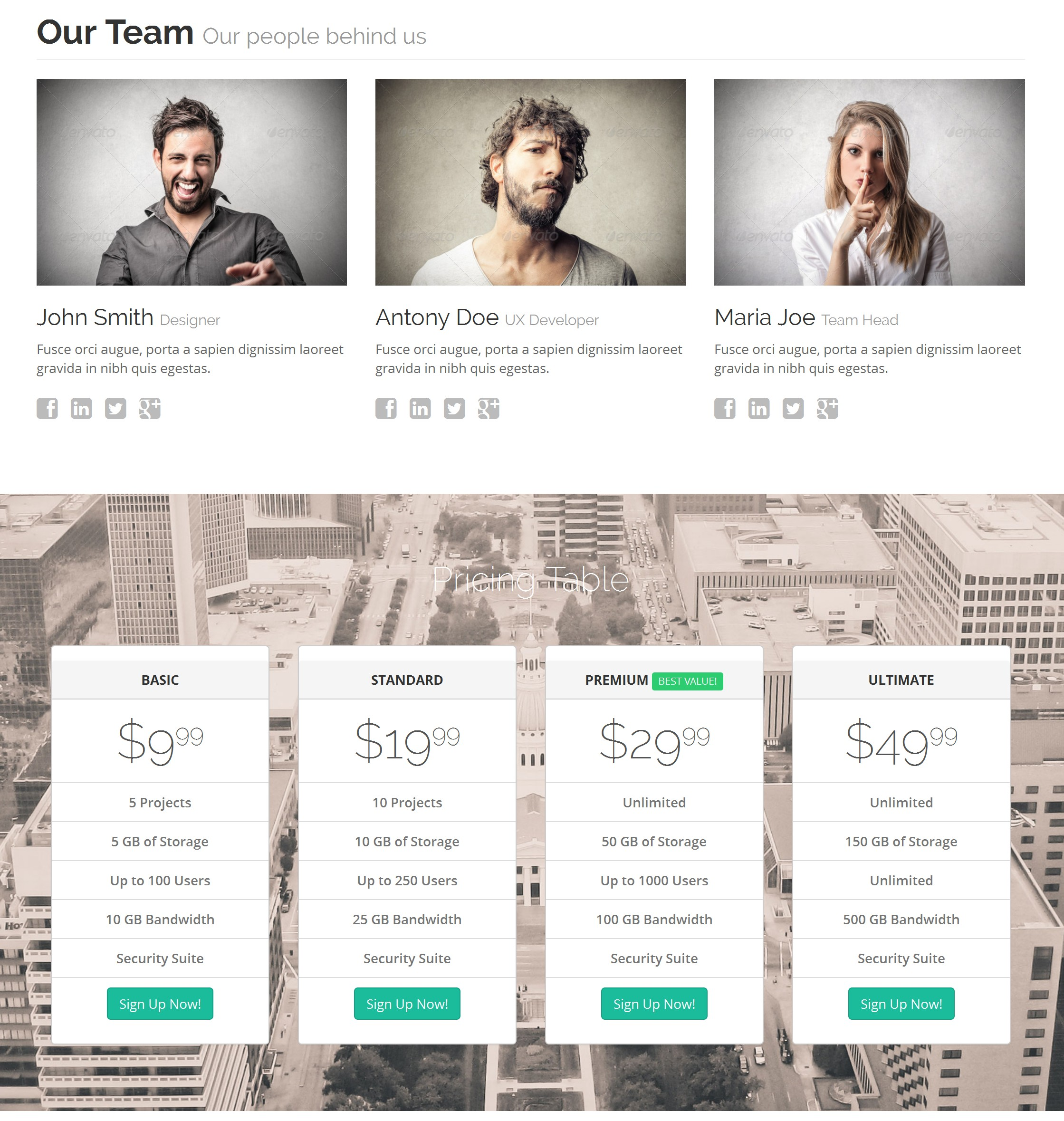 HTML Bootstrap Gallery Theme