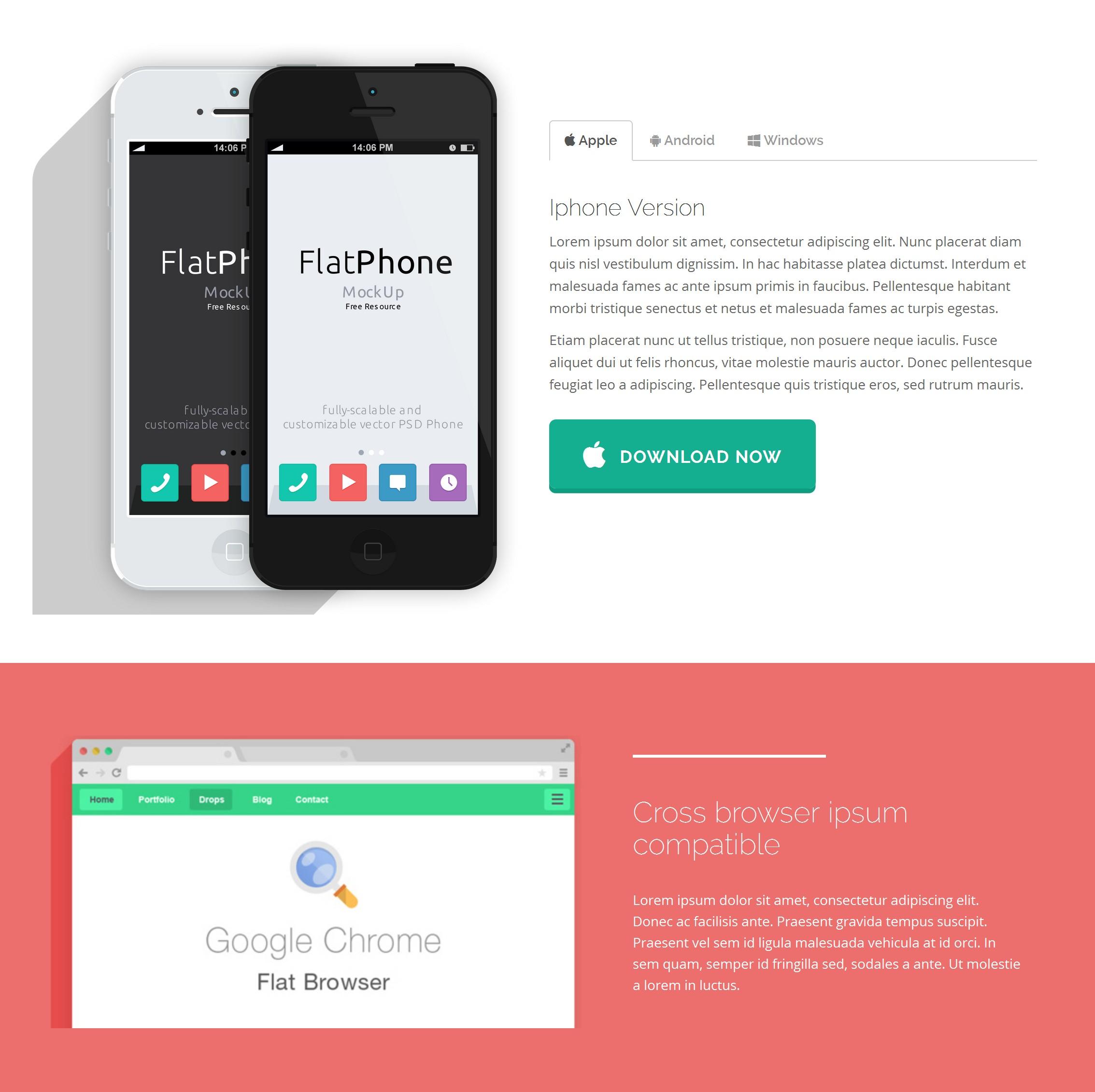 HTML5 Bootstrap Website Theme