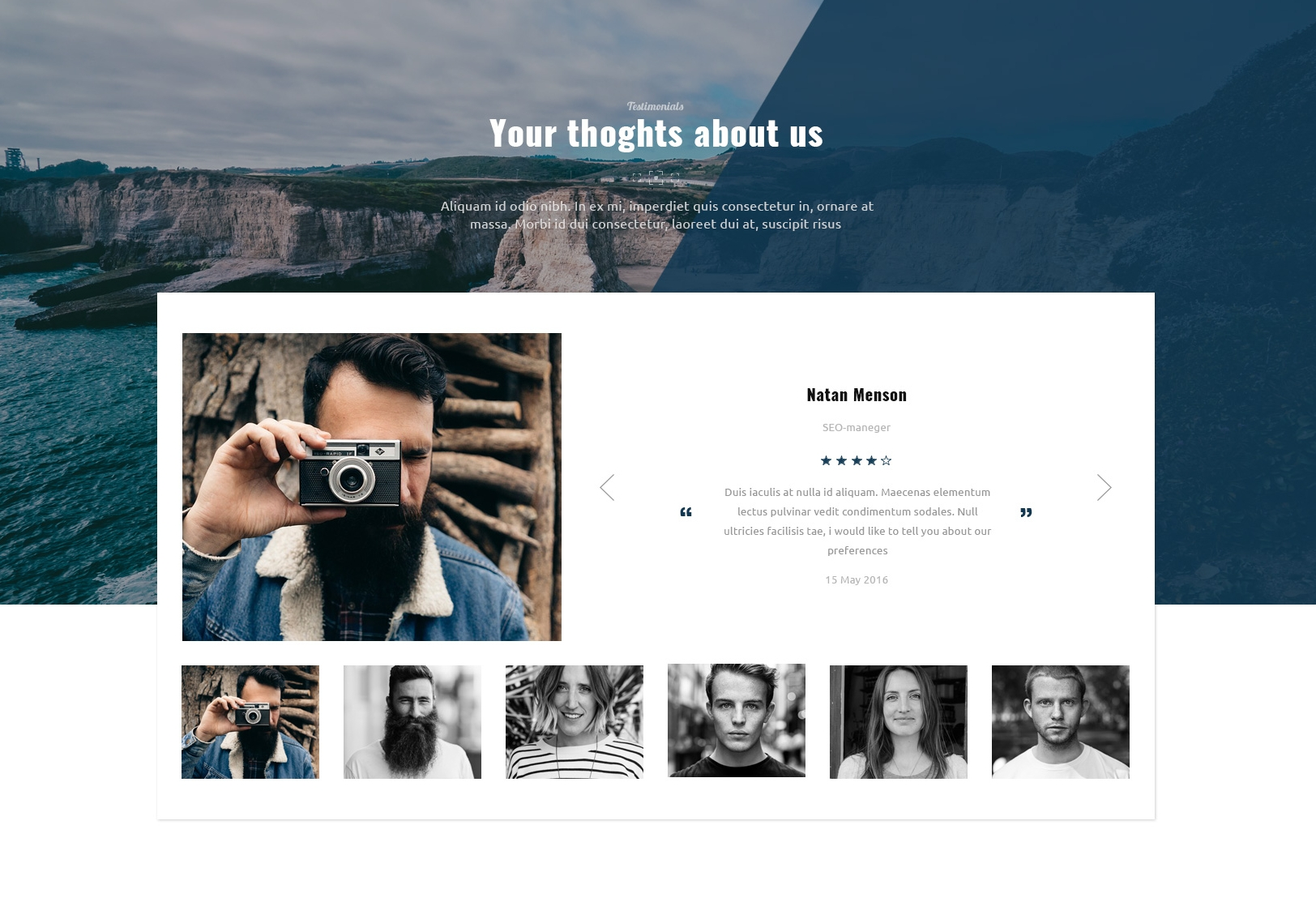Mobile Bootstrap OnePage Theme