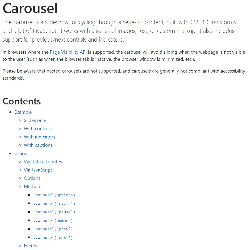 Bootstrap carousel  authoritative  records