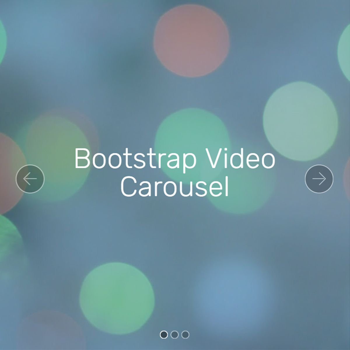HTML Bootstrap Photo Carousel