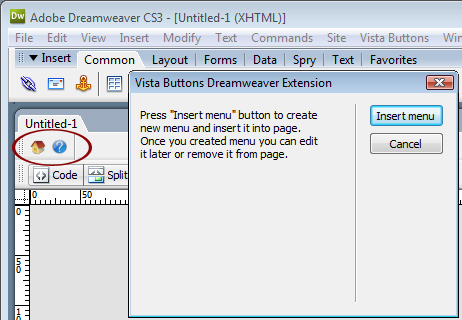menu desplegable dreamweaver cs3