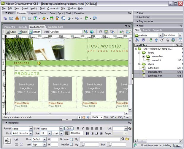 Add pages to your website in Dreamweaver