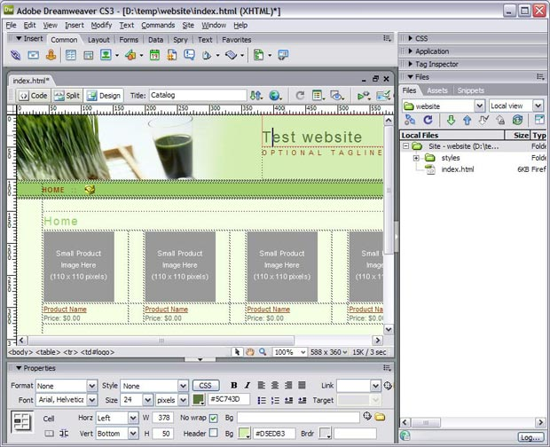 Open website in Dreamweaver